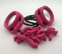 Doppelte Quick Release Schlauchclips Rot