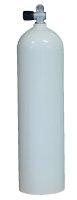 MES 11,1 L Aluflasche weiß 207 bar mit Ventil 12144