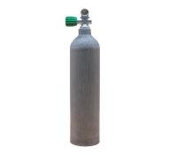 MES 3 L /200 bar Aluflasche natur mit Nitrox Ventil 12400