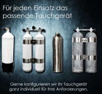 ECS 12L lang/232 bar Stahlflaschenkörper